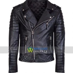 Black Original Leather Jacket Slim Fit Real Biker New Vintage For Men Women