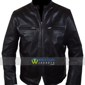 Burnt Crunch Cowhide Leather Bradley Cooper Adam Jones Black Jacket