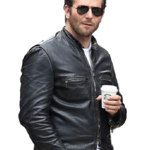 Burnt Bradley Cooper Adam Jones Black Biker Original Leather Jacket