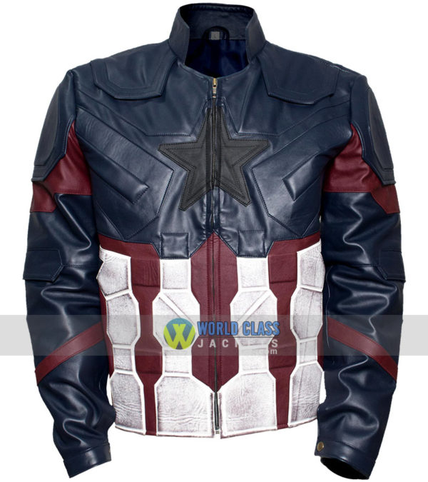 Buy Captain America Chris Evans Real Leather Costume Jacket