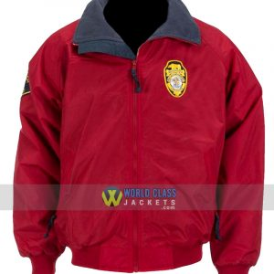 David Hasselhoff Baywatch Lifeguard Red Bomber JacketDavid Hasselhoff Baywatch Lifeguard Red Bomber Jacket