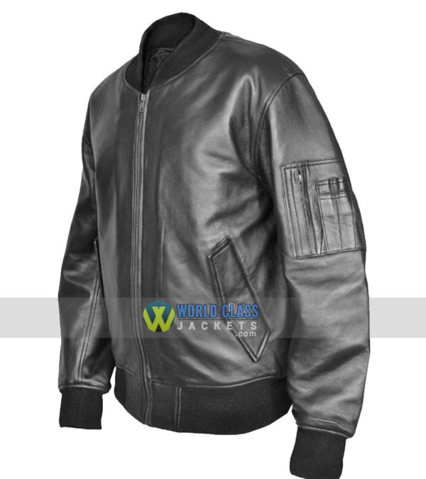 Buy MA1 Flight Pilot Bomber Leather Jacket Security US Air Force