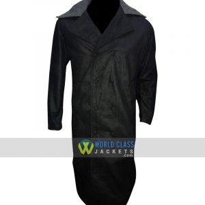 Tom Hardy James Keziah Fur Collar Delaney Taboo Wool Black Trench Coat