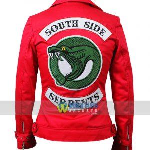 Buy Riverdale Southside Serpents Cheryl Blossom Women's Red Cotton Jacket 3