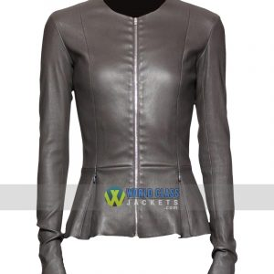 Buy State of Affairs Katherine Heigl Grey Leather Jacket