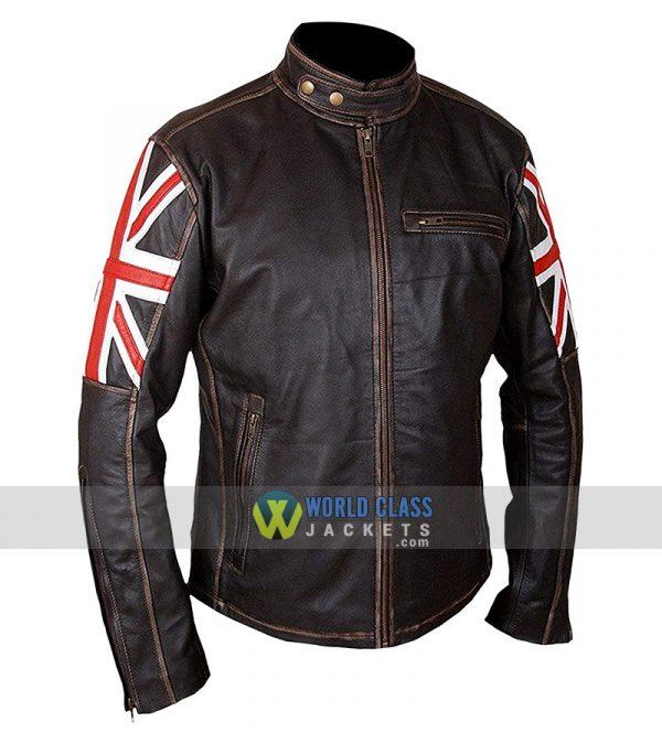 Union Jack UK Flag Biker Jacket