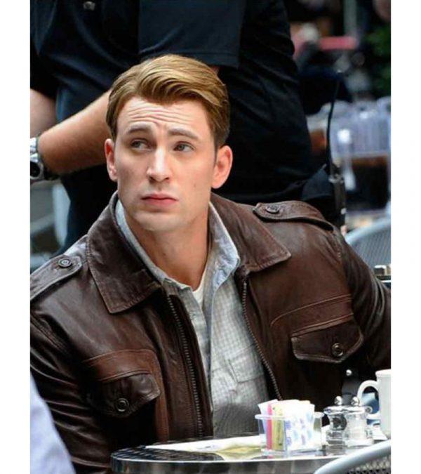 Steve Rogers Locomotive Captain America The Avengers Brown Jacket
