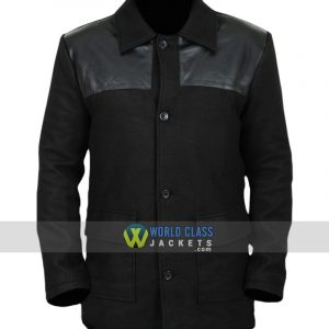 David Haller Legion Black Wool Leather Jacket