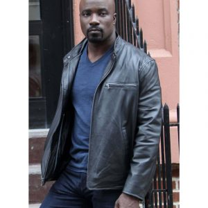 The Defenders Luke Cage Mike Colter Black Leather Jacket