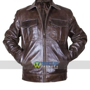 Classic Copper Rub Off Brown Distressed Vintage Mens Motorcycle Rider Leather Jacket