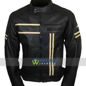 Leather Vintage Cruiser Retro Motorbike Motorcycle Jacket New Racer