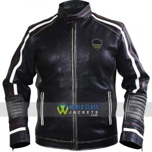 Men's Black Brando Cafe Racer Retro Biker Leather Jacket
