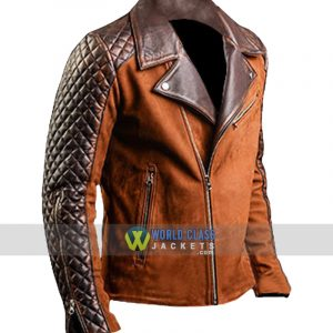 Mens Cafe Racer Stylish Biker Brown Distressed Leather Jacket
