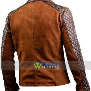 Mens Cafe Racer Stylish Biker Distressed Brown Leather Jacket