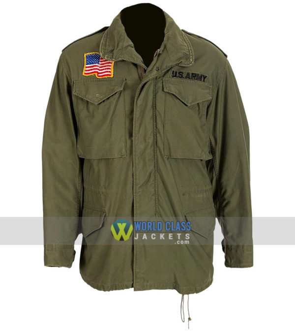 Men's John Rambo M65 Commando First Blood Military Green US Army Cotton Jacket