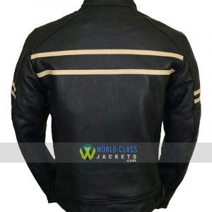 Vintage Cruiser Retro Motorbike Motorcycle Leather Jacket New Racer
