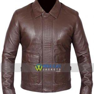 Vintage Indiana Jones Brown Leather Jacket