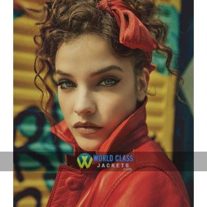 Buy Barbara Palvin Numero Russia No. 010 Red Leather Jacket