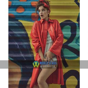 Buy Barbara Palvin Numero Russia No. 010 Red Leather Coat