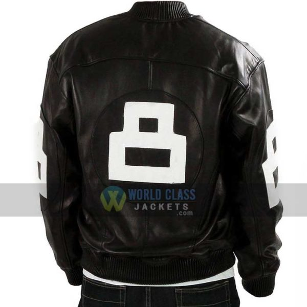 Buy 8 Ball Pool Where MI Bomber Black Leather Jacket