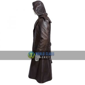 Assassins Creed Real Leather Brown Distress Leather Winter Coat For Men
