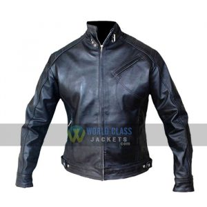Bourne Legacy Jeremy Renner Genuine Black Leather Jacket On Off Price